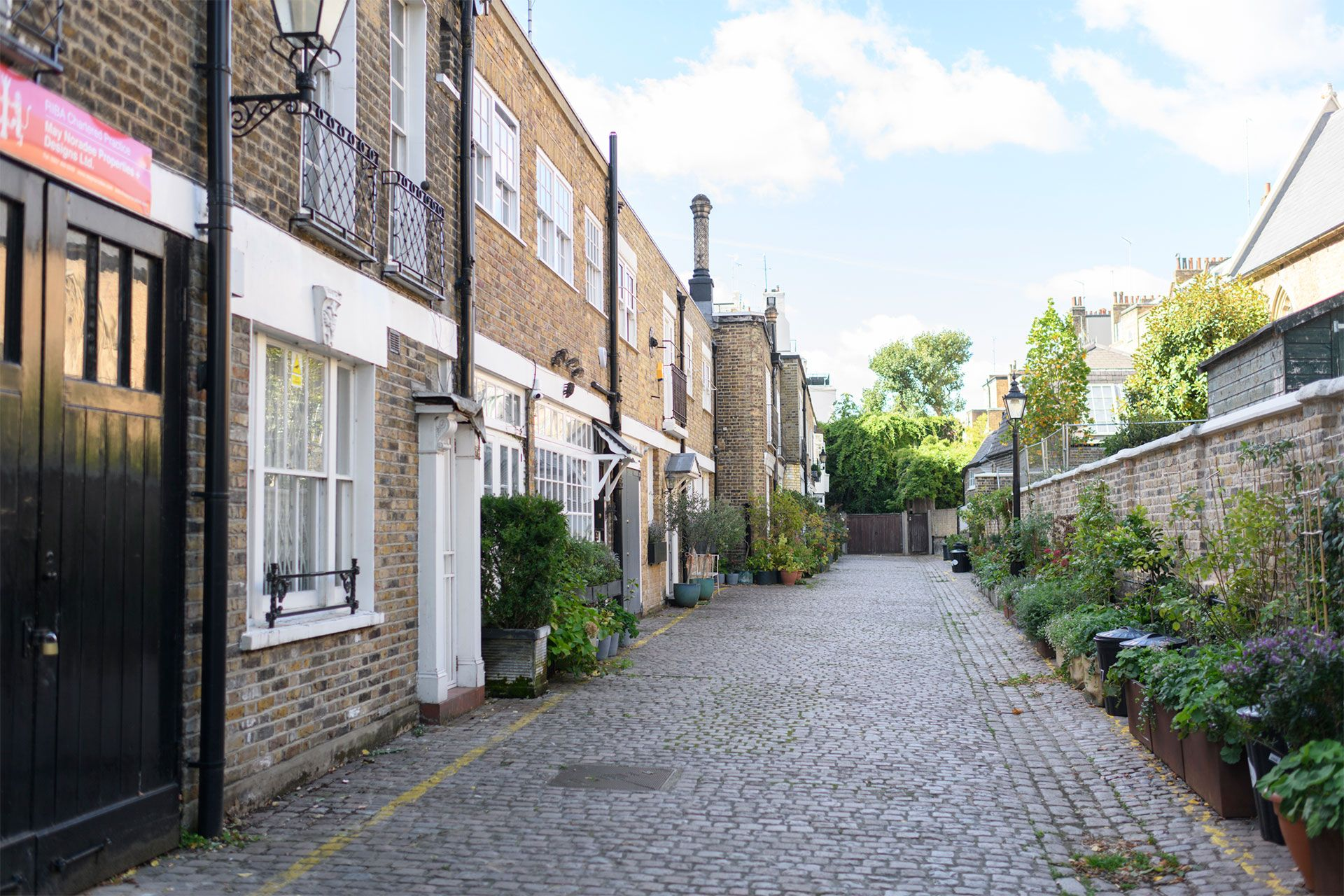 View of London Mews homes