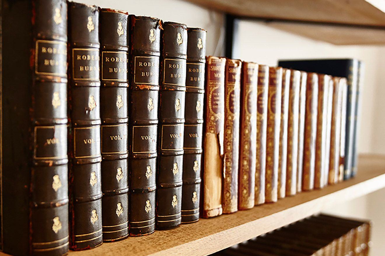 Lovely leather bound books