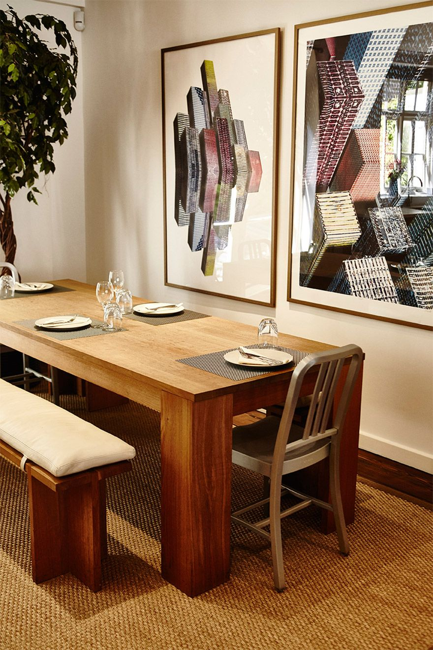 Large dining table is perfect for entertaining