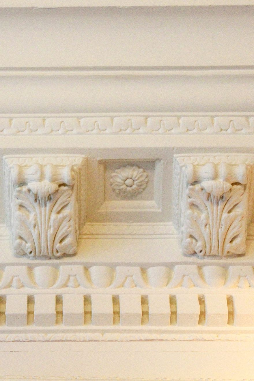 Architectural detailing at historic South Kensington rental