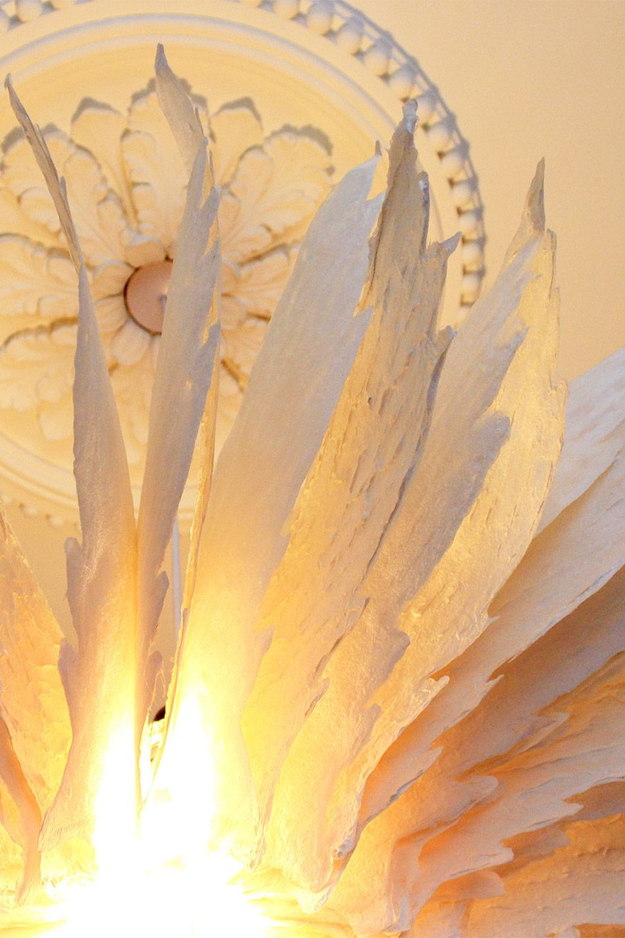 Delicate light fitting in the bedroom of the Salisbury vacation rental offered by London Perfect