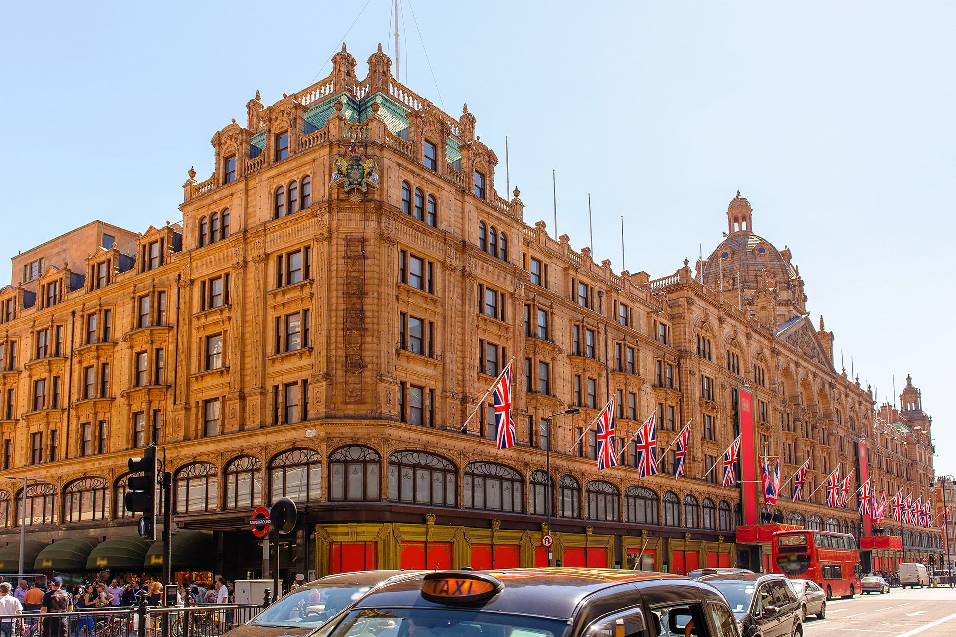 Visit the famous Harrods department store in Knightsbridge