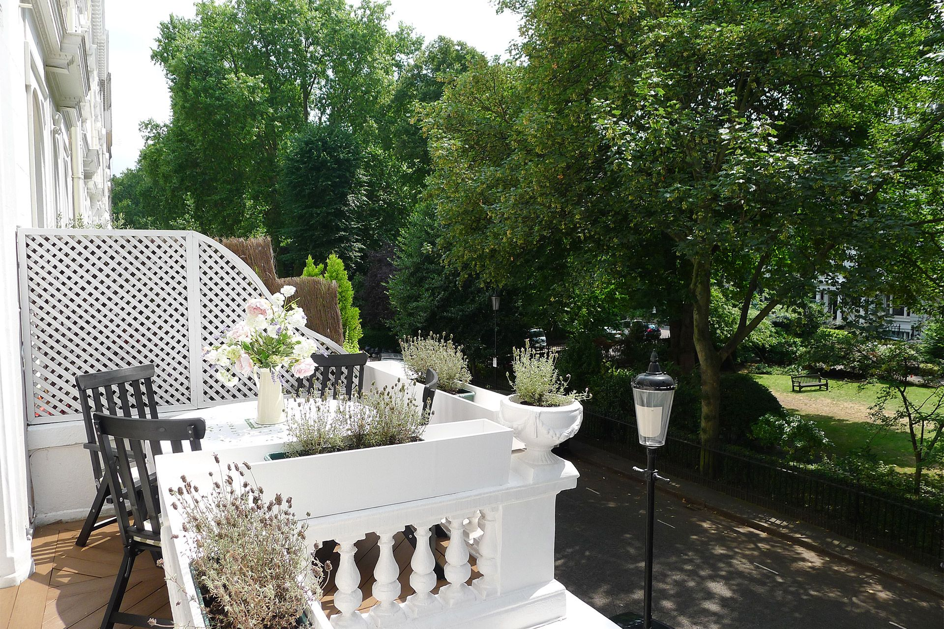 Private balcony of The Gloucester vacation rental offered by London Perfect