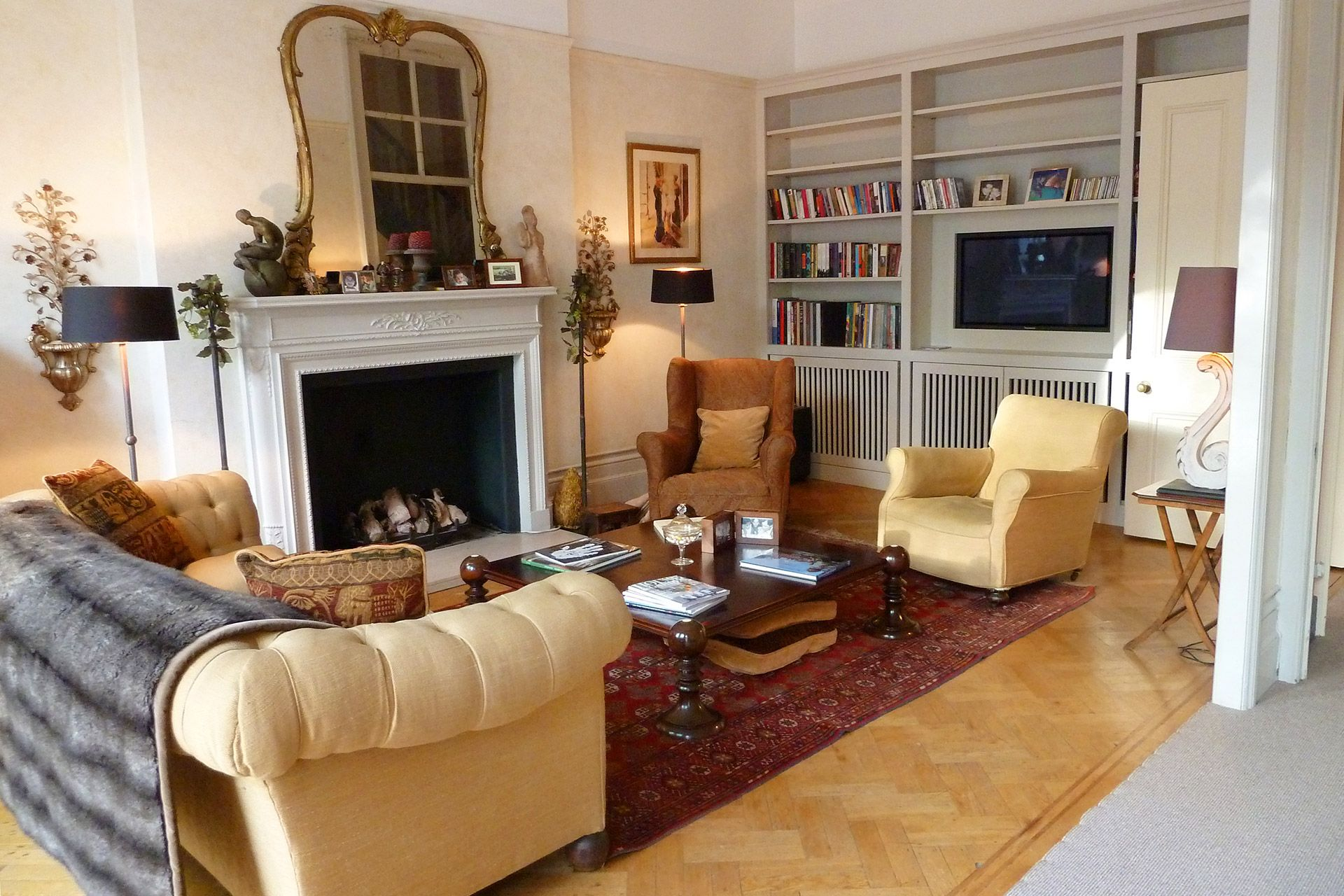 Towards marble fireplace gorgeous london flat