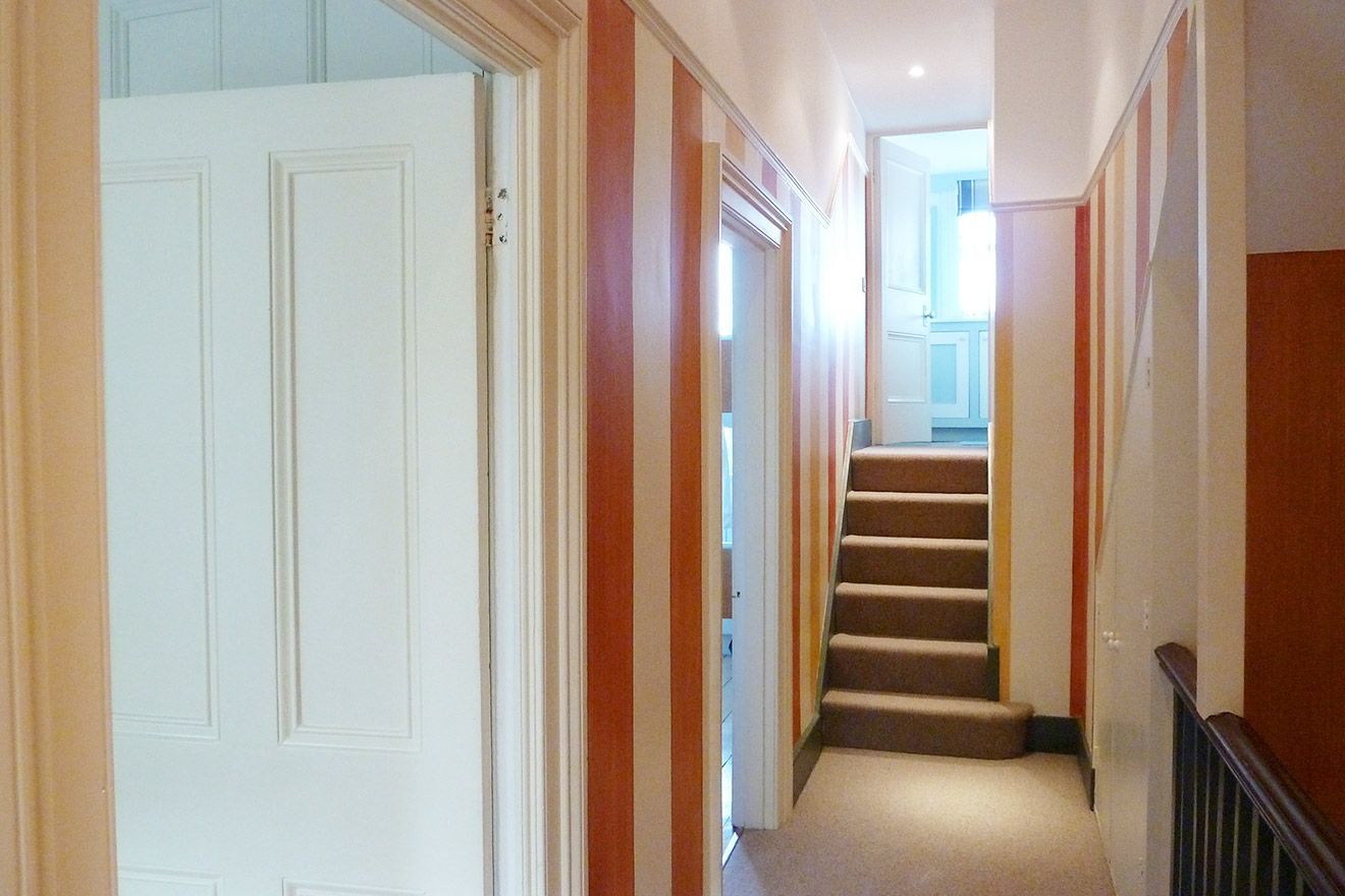 Hallway leading to first bedroom of The Gloucester vacation rental offered by London Perfect