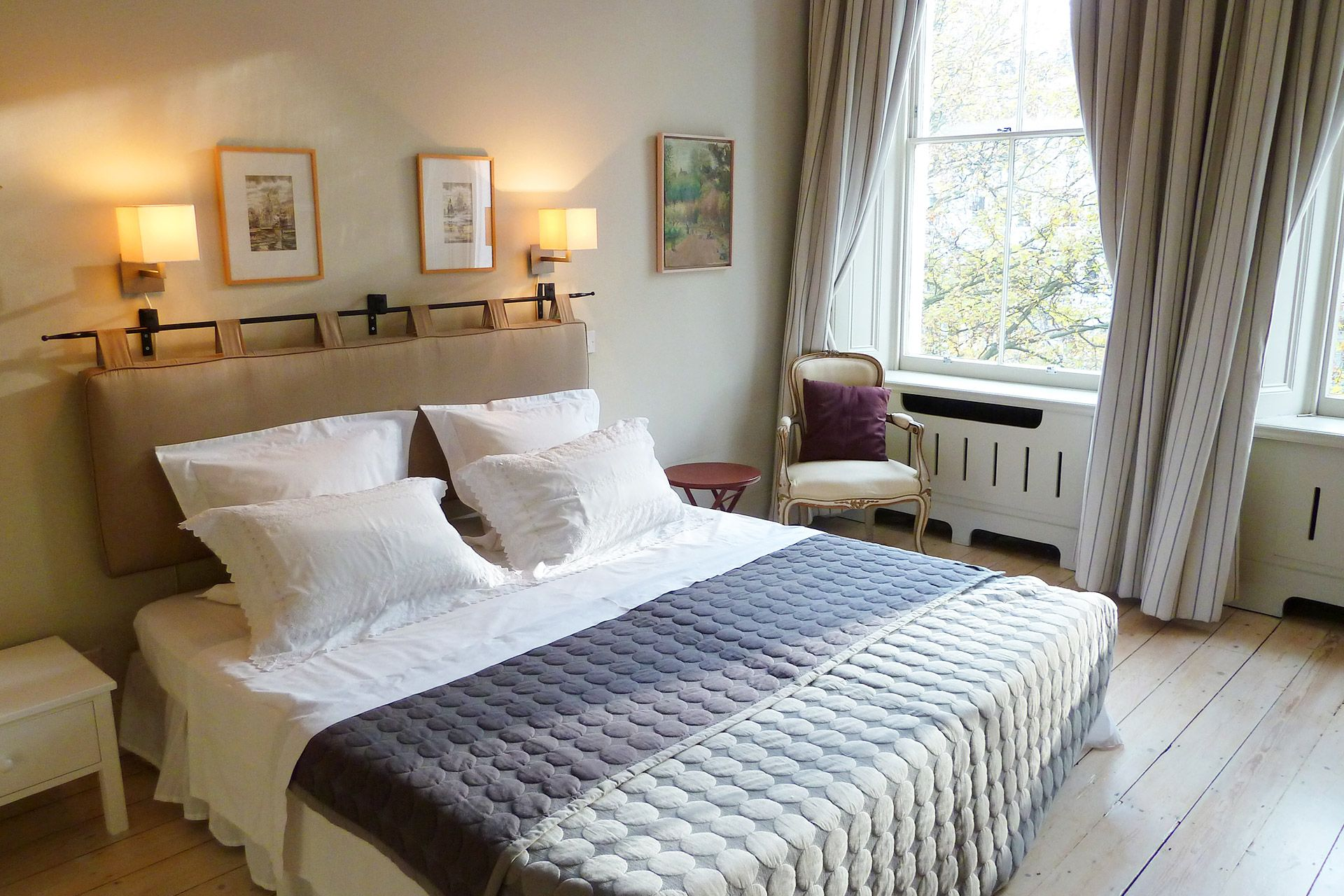 Stunning first bedroom of The Gloucester vacation rental offered by London Perfect