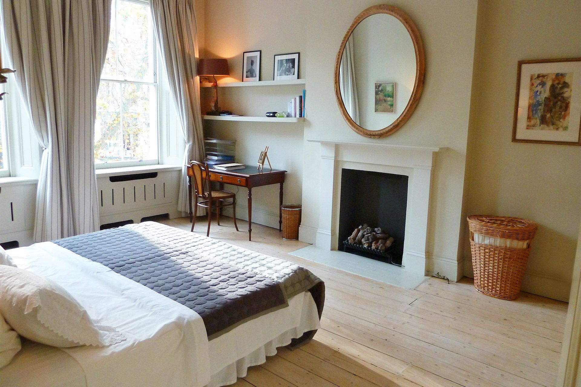 Beautiful English bedroom antiques in The Gloucester vacation rental offered by London Perfect