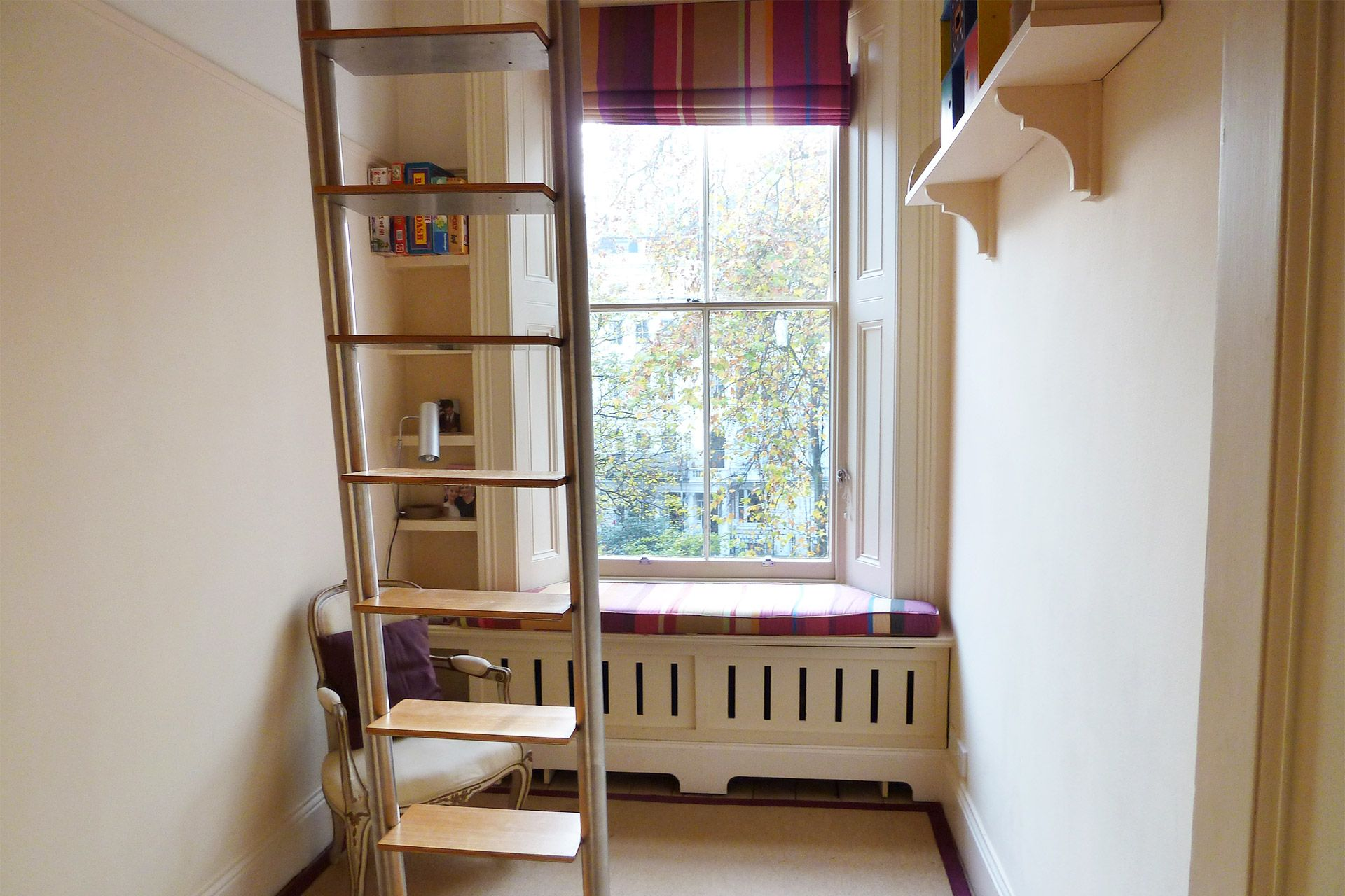 Fourth bedroom with a loft bed in The Gloucester vacation rental offered by London Perfect