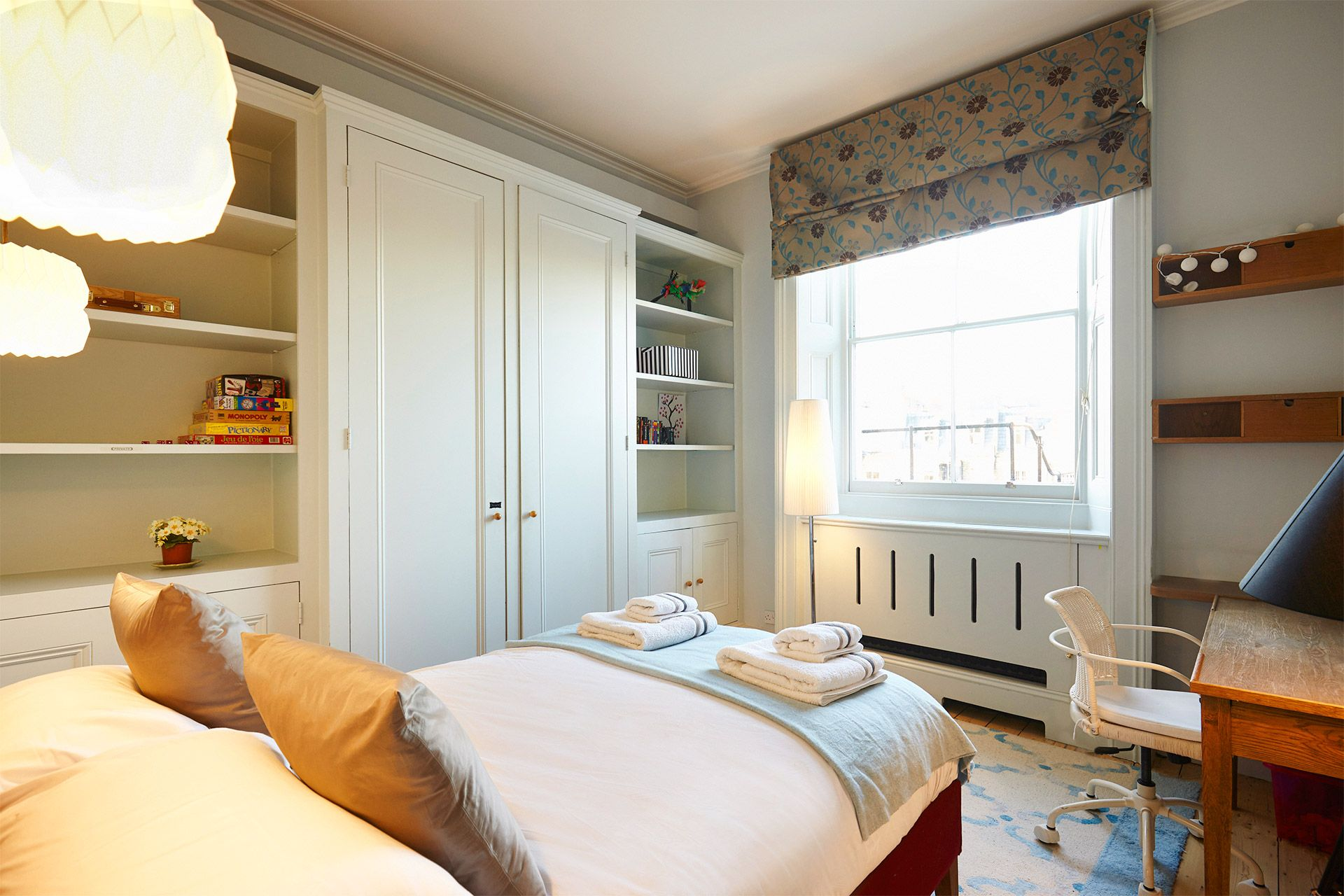 Large window in third bedroom of The Gloucester vacation rental offered by London Perfect