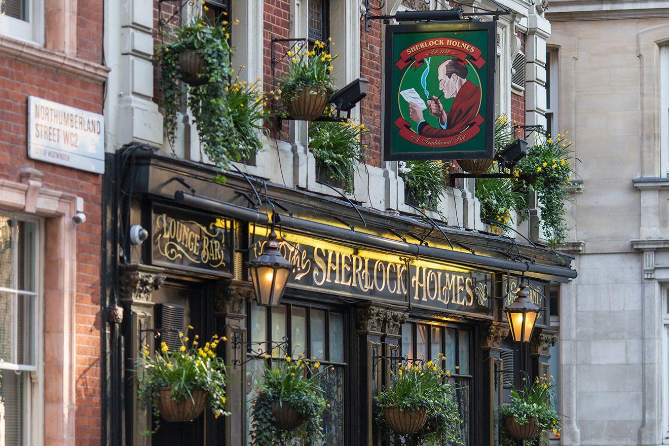 The Sherlock Holmes Pub in London