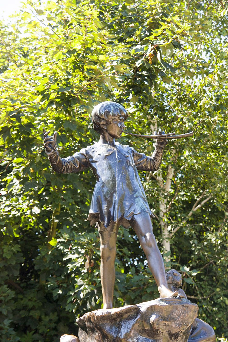 The Peter Pan statue in Hyde Park
