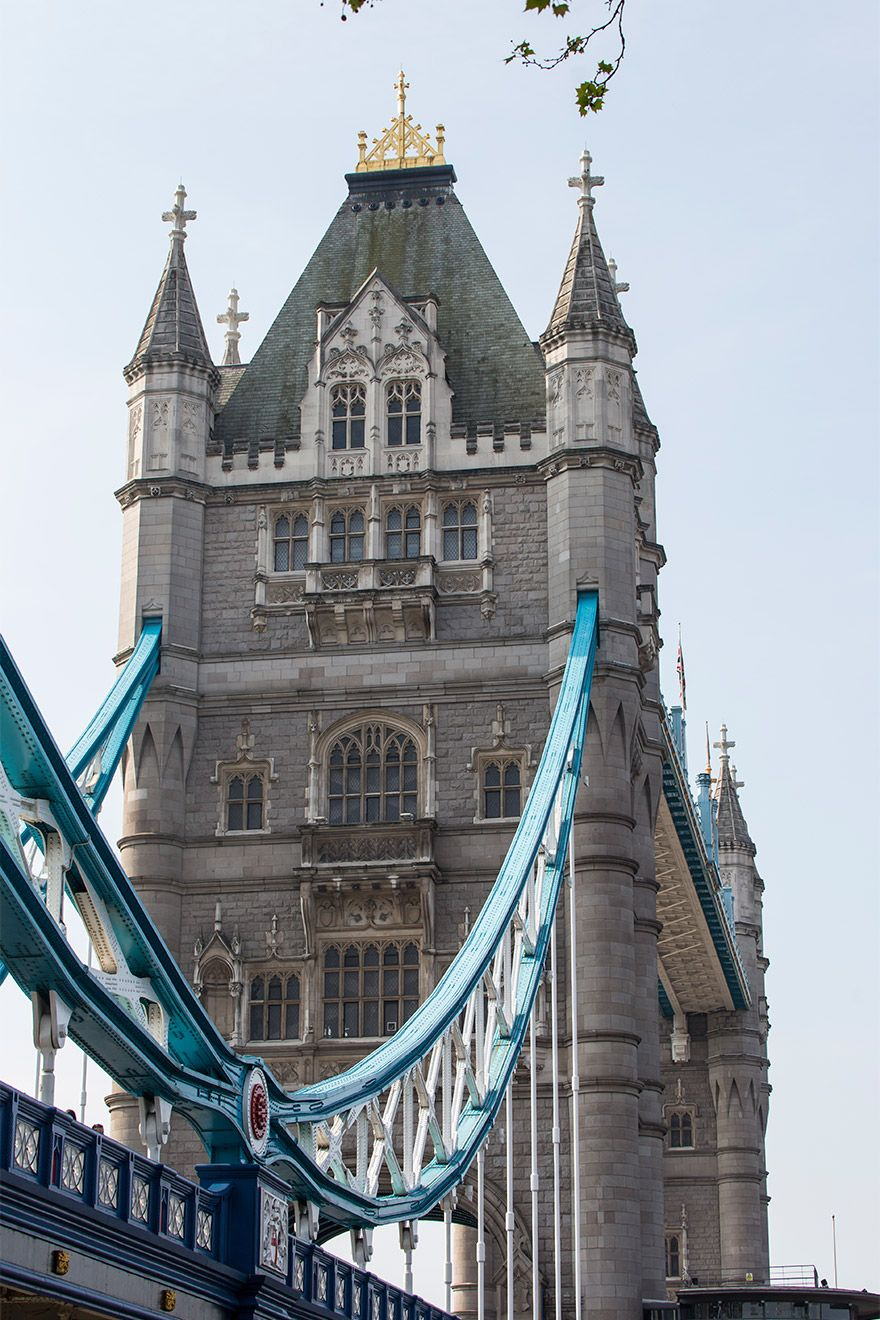 Tower bridge crossing the Thames river