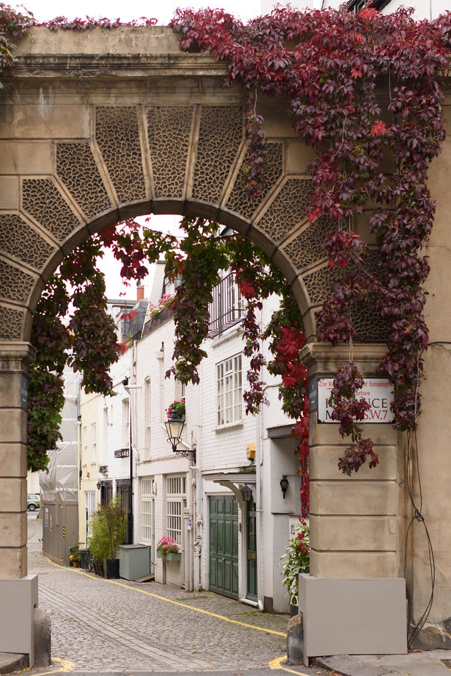 Elegant archways lead into the London Mews