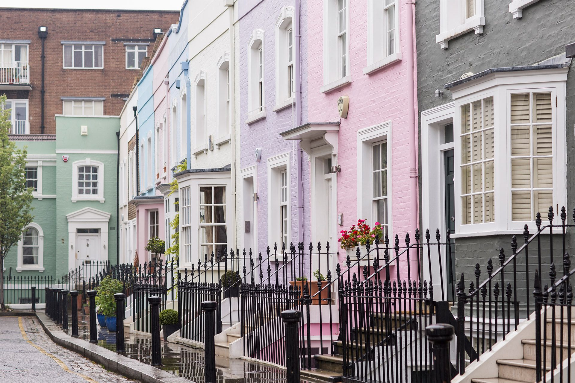 Colorful houses in Chelsea London