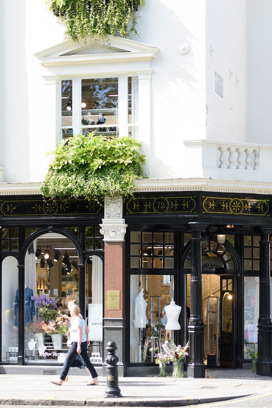 Shopping along Kensington High Street