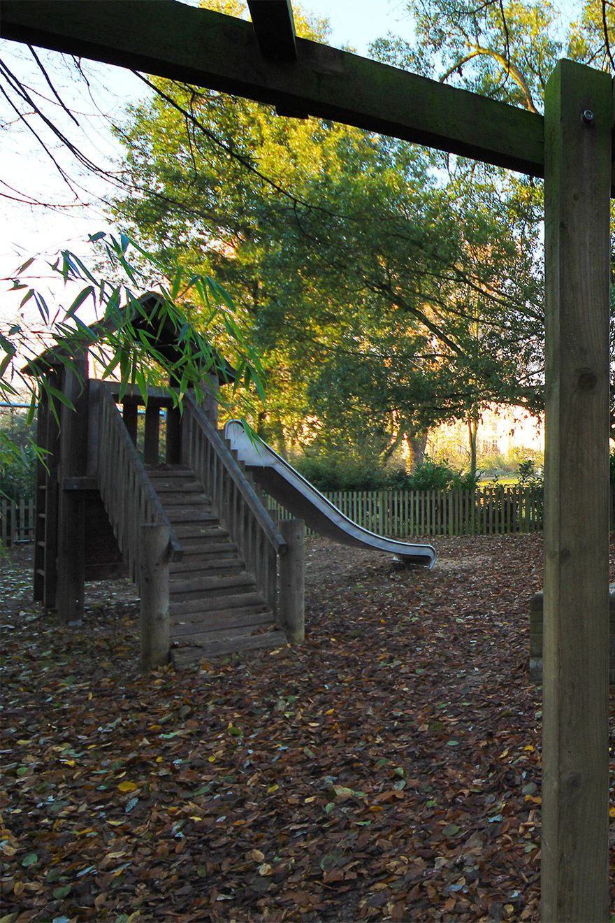 Fun playground near the Leicester vacation rental offered by London Perfect