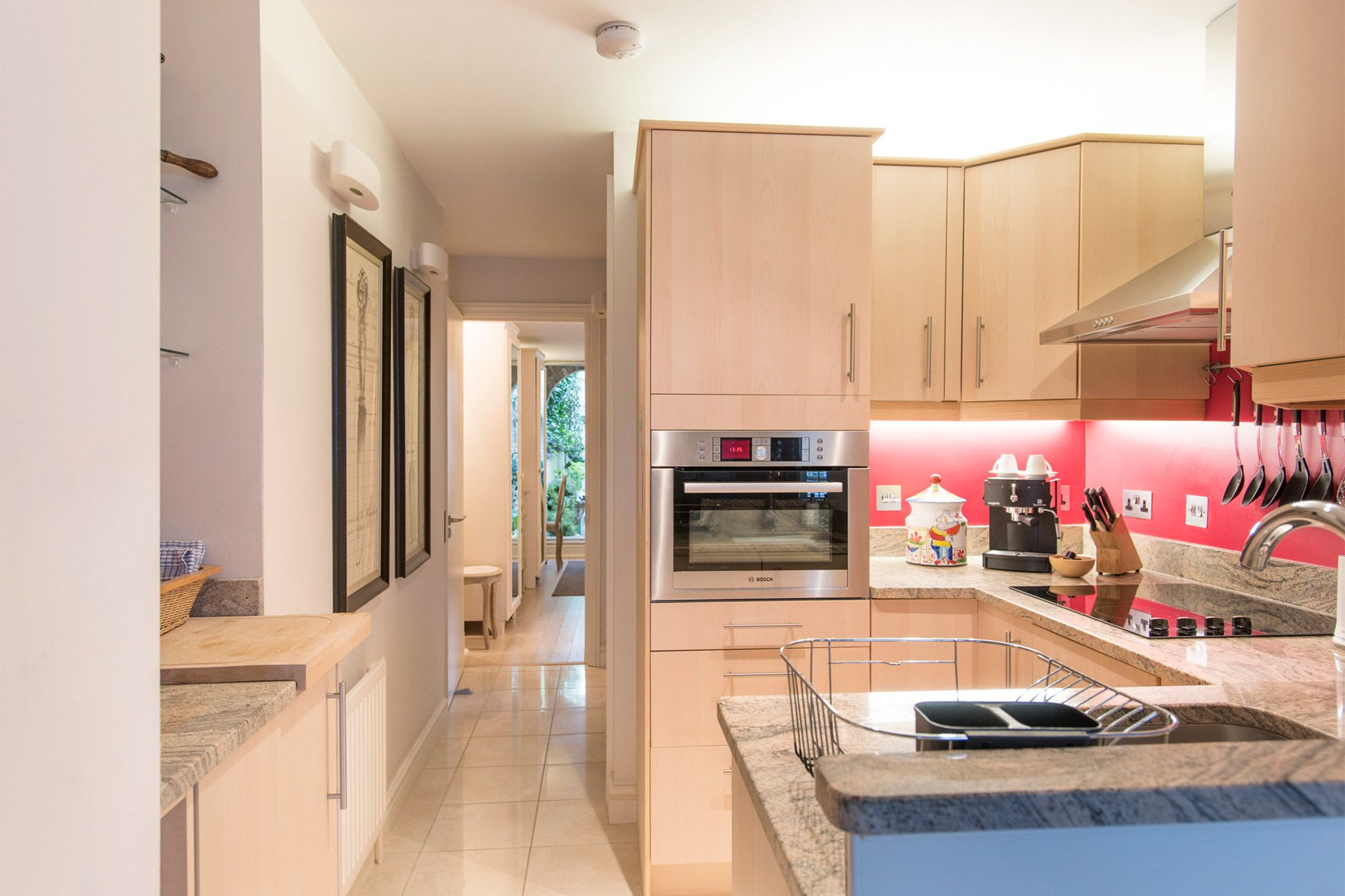 Newly remodeled kitchen of the Cornwall vacation rental offered by London Perfect