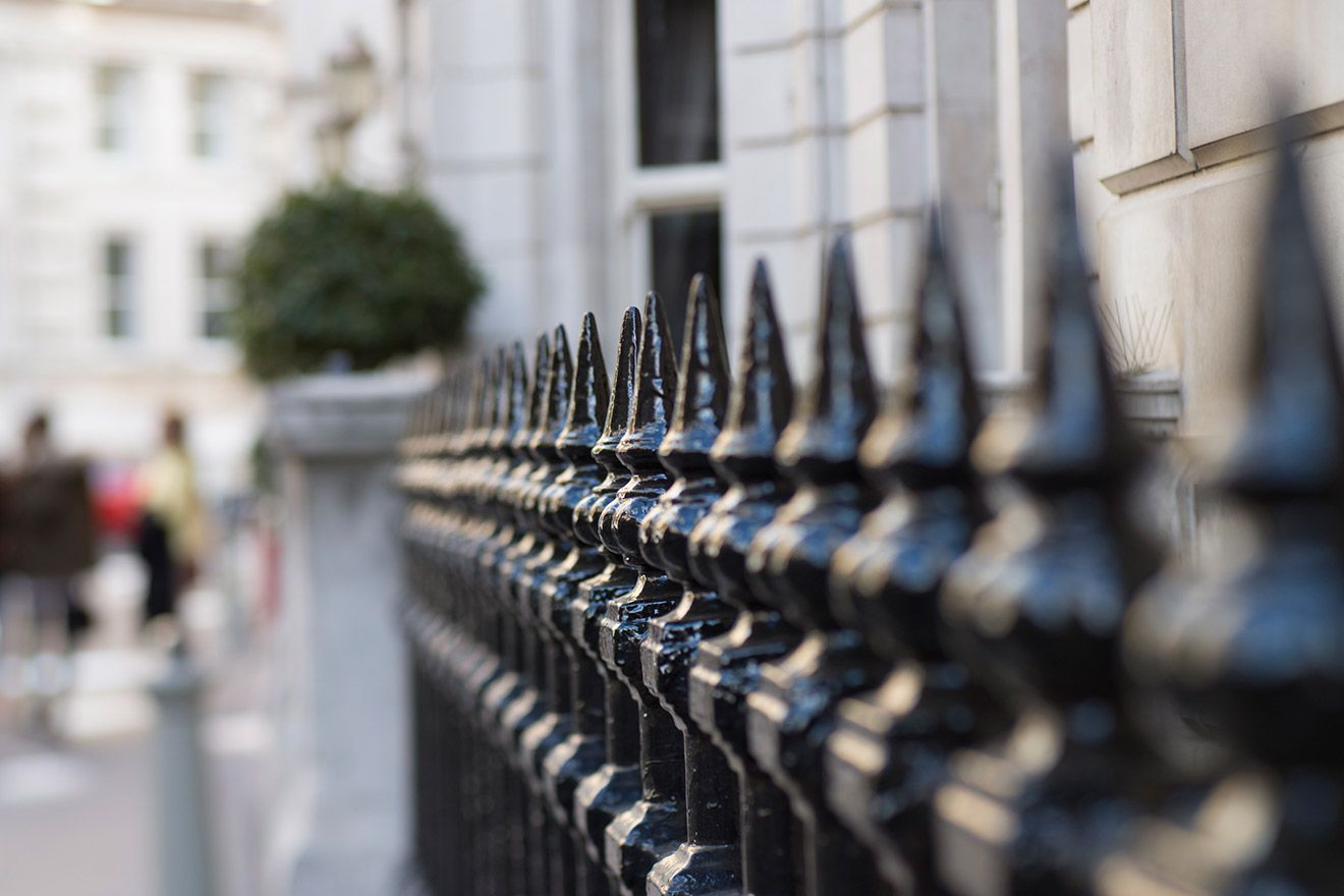 Iron railings outside of classic Kensington homes