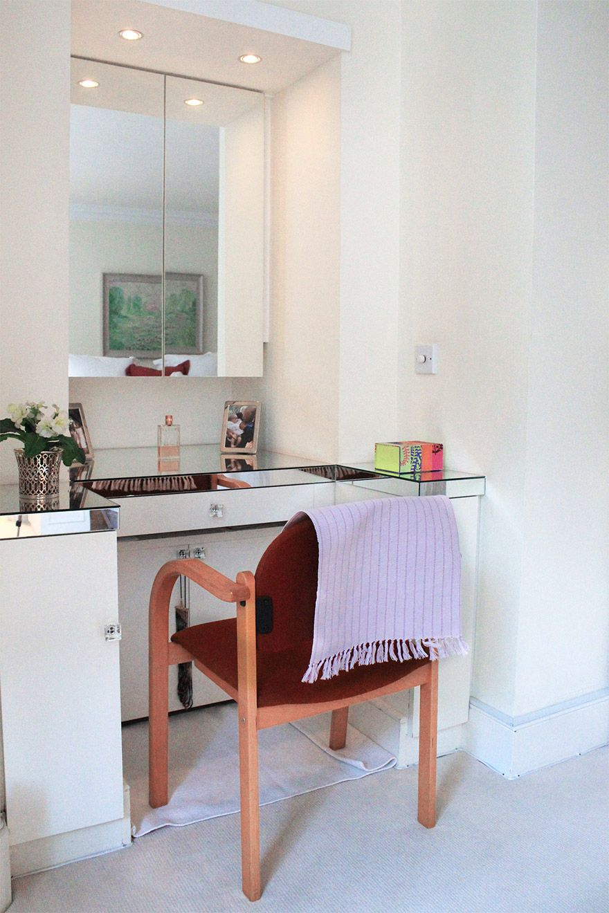 Elegant vanity table in the first bedroom of the Christchurch vacation rental