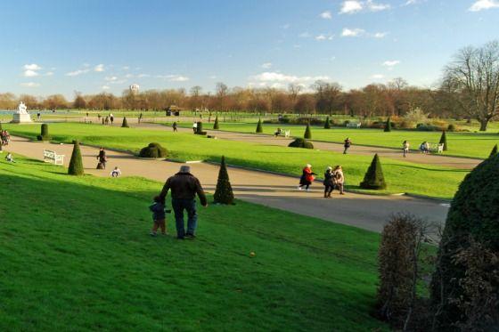 The vast grounds of Kensington Gardens