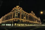 See the dazzling lights of Harrods