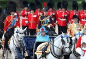 Trooping the Color ceremony in June