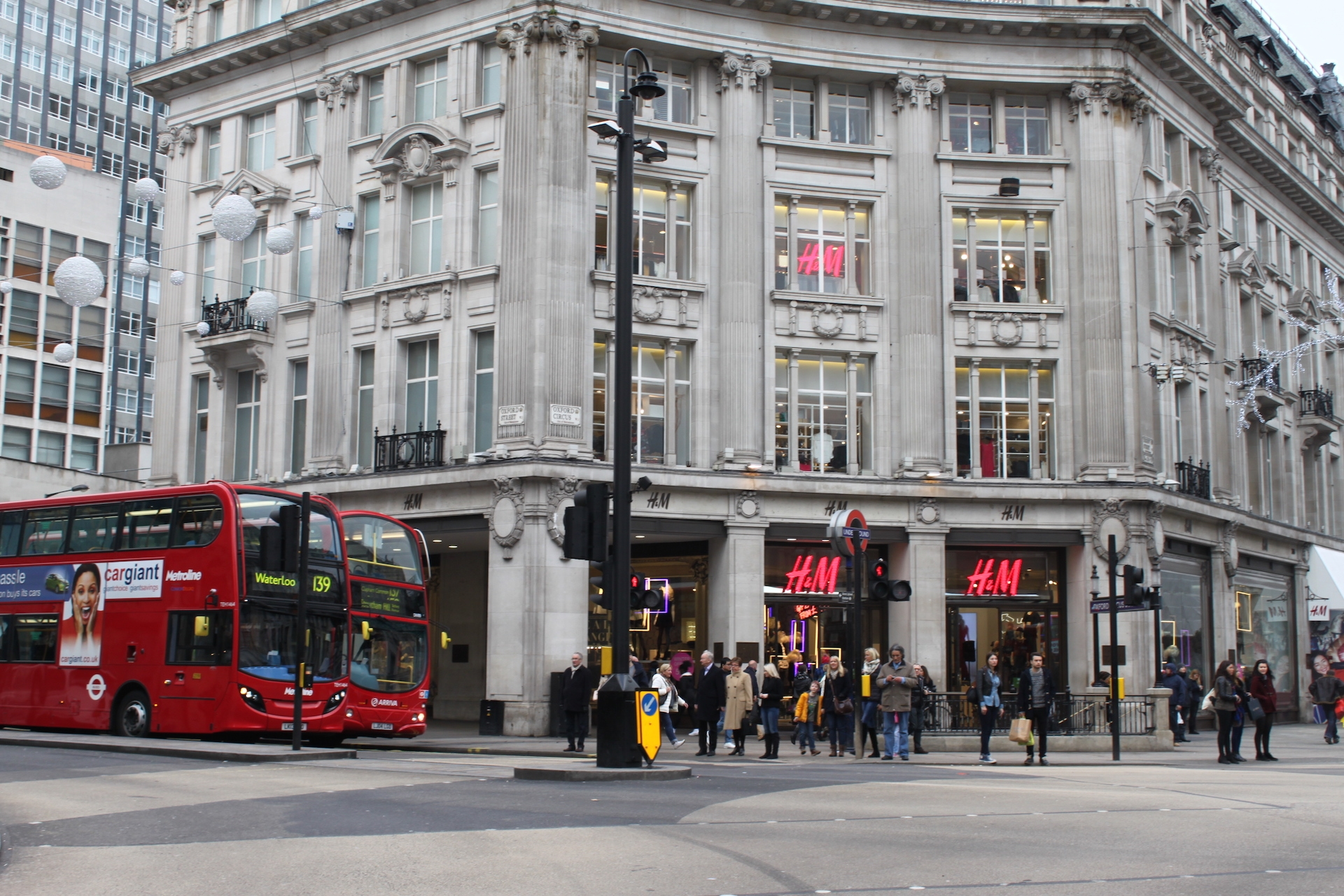 Shopping Along Oxford Street