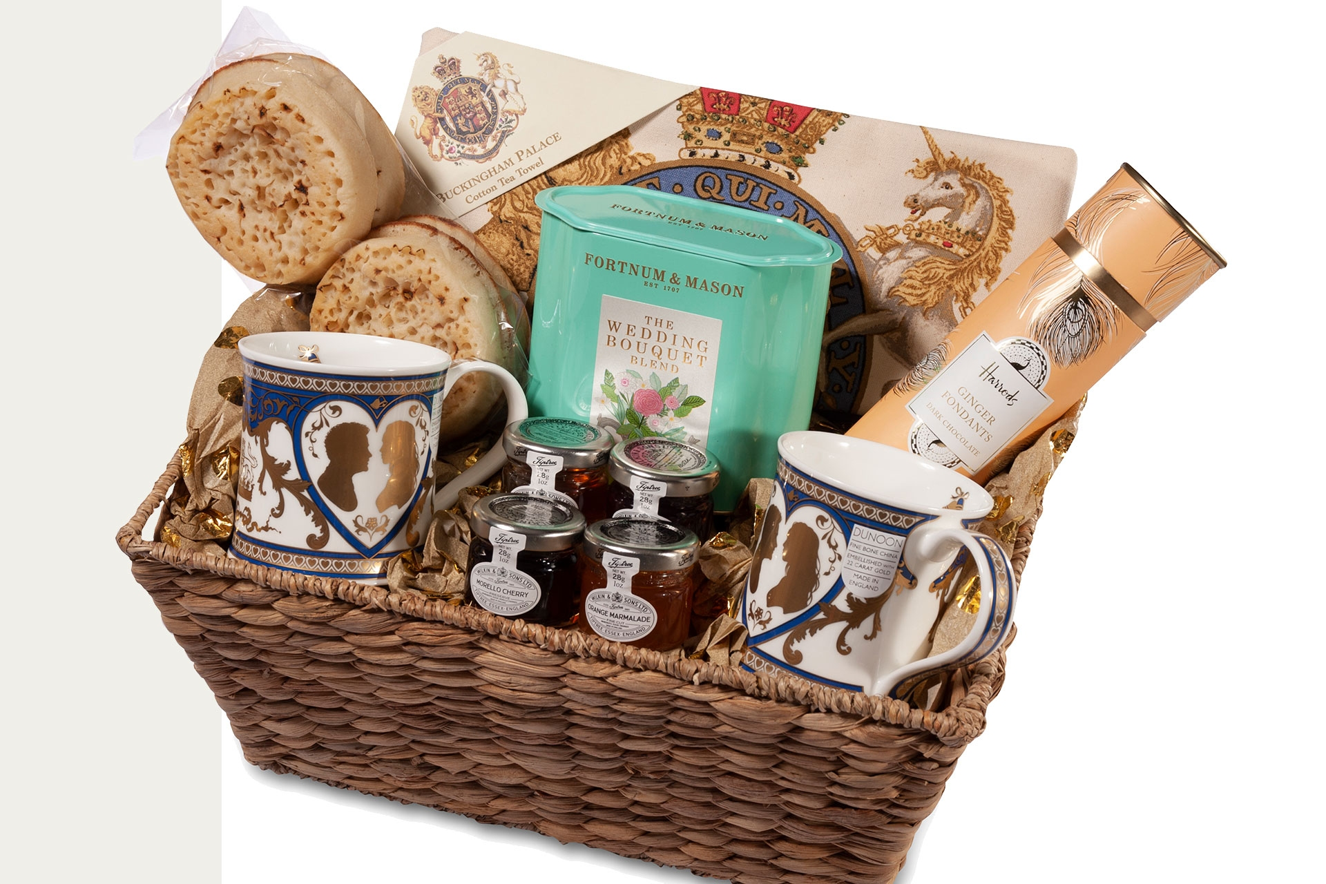 Welcome Gift Baskets For Wedding Guests: Royal Wedding Welcome Basket